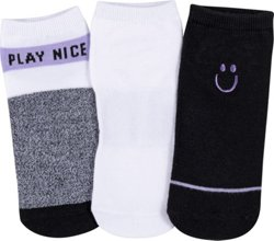 BCG Women's Play Nice No Show Socks 3 Pack