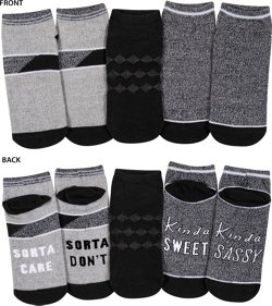 BCG Women's Sorta Care No Show Socks 3 Pack