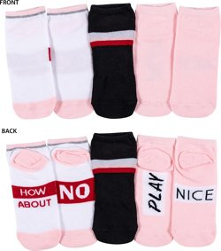 BCG Women's How About No Show Socks 3 Pack