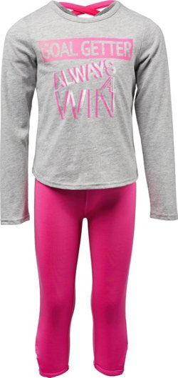 Cheetah Toddler Girls' Goal Getter Long Sleeve T-shirt and Capri Pant Set