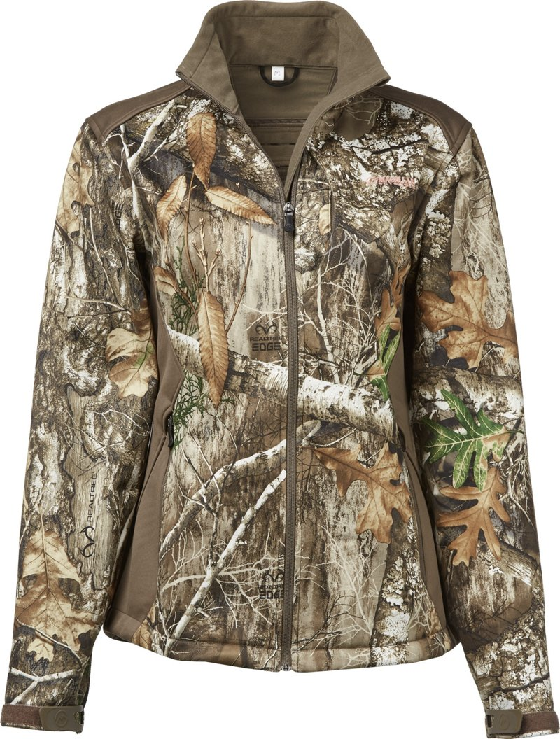 Magellan Outdoors Women's Mesa Scent Control Softshell Jacket - Camo Clothing, Ladies Insulated Camo at Academy Sports thumbnail