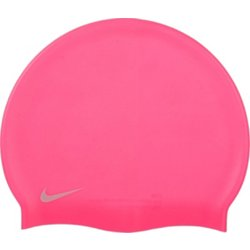 Kids' Swim Solid Silicone Swimming Cap