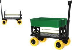 Mighty Max Plus One Multipurpose Outdoor Utility Yard Cart