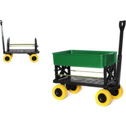 Plus One Multipurpose Outdoor Utility Yard Cart