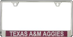 Texas A&M University Metal Glitter License Plate Frame