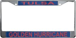 WinCraft University of Tulsa Metal Glitter License Plate Frame
