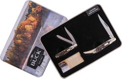 Buck Knives Faux Stag Holiday Tin Set