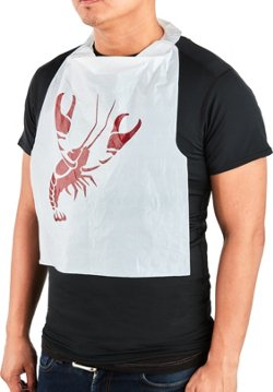Disposable Crawfish Bibs 12-Pack