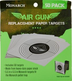 Monarch Air Gun Replacement Paper Targets 50 Pack