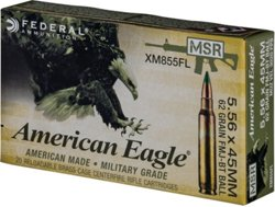 American Eagle XM855FL .223 Remington/5.56 NATO 62-Grain Centerfire Rifle Ammunition