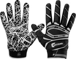 Cutters Adults' Game Day Lineman and All-Purpose Padded Gloves