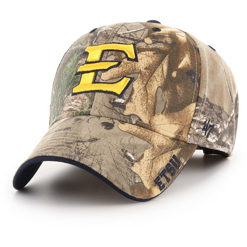 '47 East Tennessee State University Realtree Frost Ball Cap Dark Green/Brown - NCAA Men's Caps at Academy Sports thumbnail