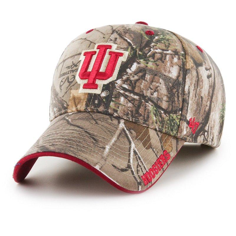 '47 Indiana University Realtree Frost Ball Cap Dark Green/Brown - NCAA Men's Caps at Academy Sports thumbnail