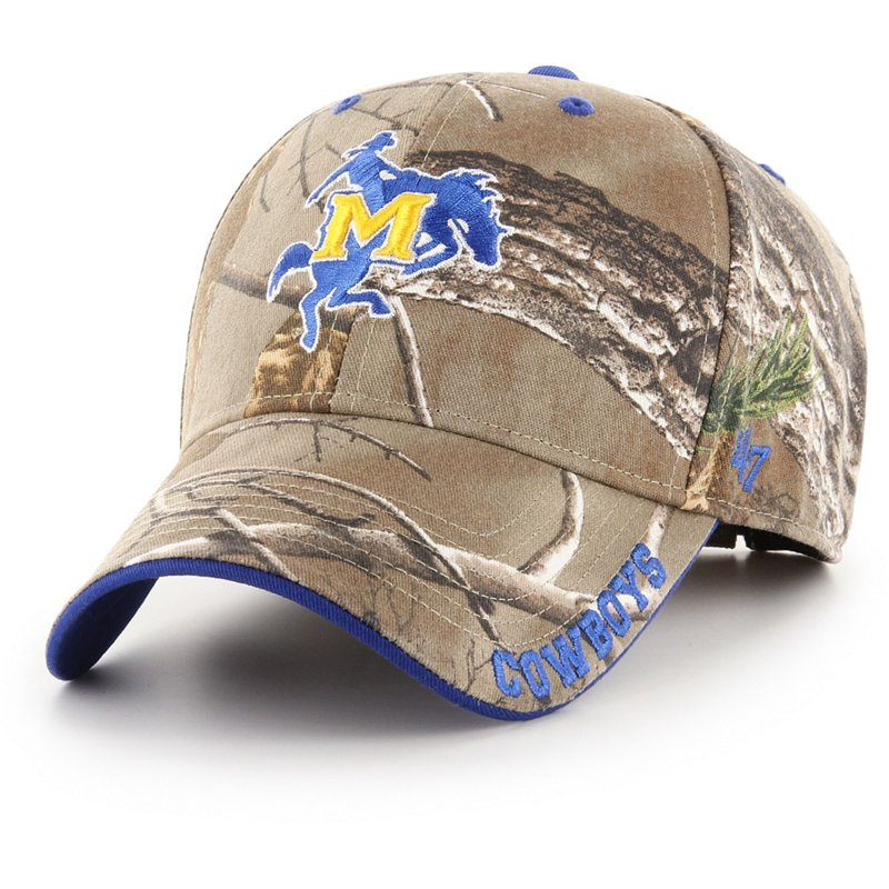 '47 McNeese State University Realtree Frost MVP Cap Real Tree/Royal – Ncaa Men's Caps at Academy Sports
