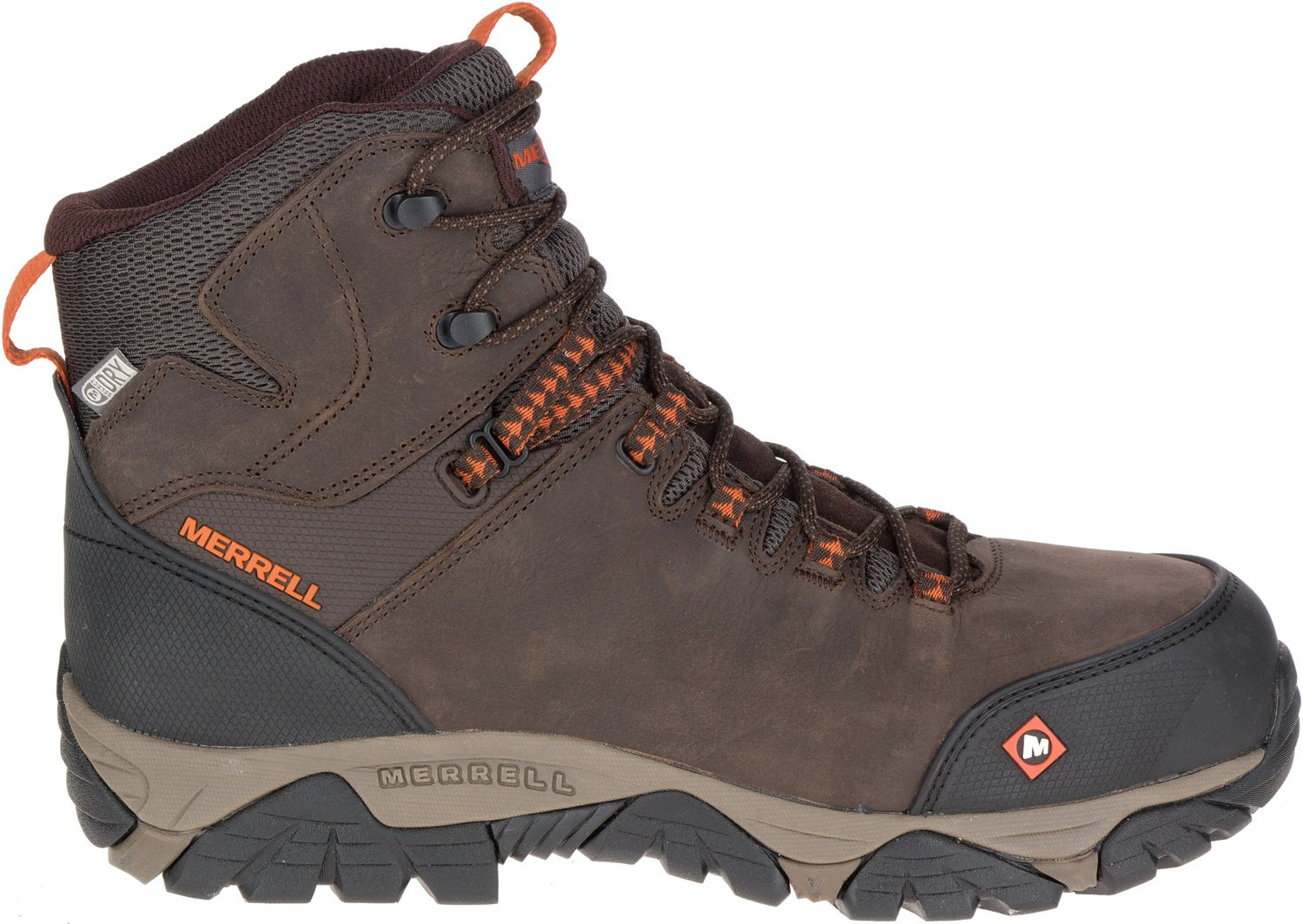 fb97974fef7 Merrell Men's Phaserbound Mid EH Composite Toe Lace Up Work Boots