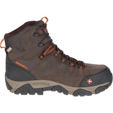 b5cc2e07 Merrell Men's Phaserbound Mid EH Composite Toe Lace Up Work Boots ...