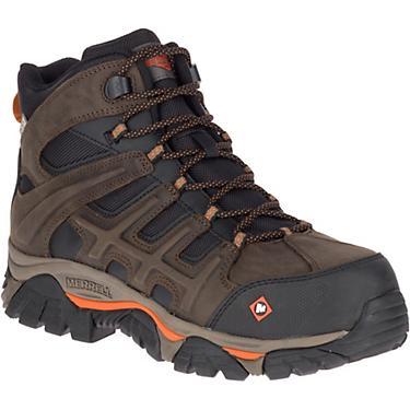 932ea94b Merrell Men's MOAB 2 Peak EH Composite Toe Lace Up Work Shoes