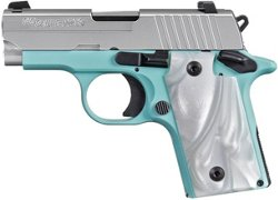 Sig Sauer P238 Robin's Egg Blue NS 380 ACP Sub-Compact 6-Round Pistol