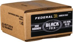 Federal Premium .223 Remington 55-Grain Centerfire Rifle Ammunition Black Pack