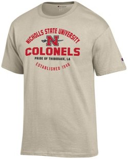 Champion Men's Nicholls State University Oval Name with Mascot T-shirt
