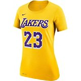 f25deea250a3 Women s Los Angeles Lakers LeBron James 23 Name And Number Dri-FIT T-shirt
