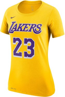 Nike Women's Los Angeles Lakers LeBron James 23 Name And Number Dri-FIT T-shirt