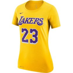 Women's Los Angeles Lakers LeBron James 23 Name And Number Dri-FIT T-shirt