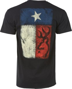 Browning Men's Classic Distressed Texas Flag T-shirt