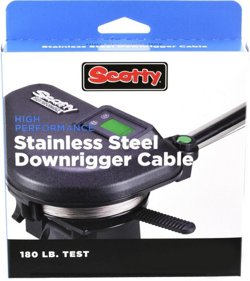 Scotty 180 lb Test High Performance Stainless Steel Downrigger Cable