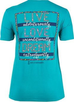 Love & Pineapples Women's Live Adventurously T-shirt