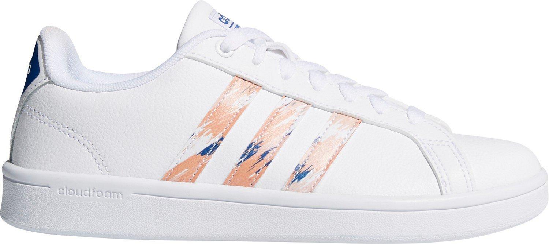 new concept 3c50e 01d8a adidas Womens cloudfoam Advantage Stripe Shoes  Academy