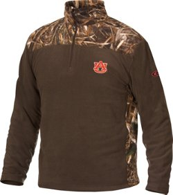 Drake Waterfowl Men's Auburn University Camo Camp 1/4 Zip Pullover