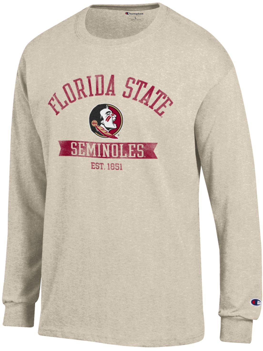 f4edf71e0cf Champion Men s Florida State University Oval with Mascot T-shirt ...