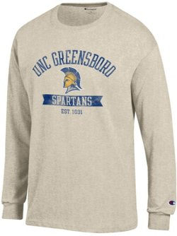 Champion Men's University of North Carolina at Greensboro Oval with Mascot T-shirt