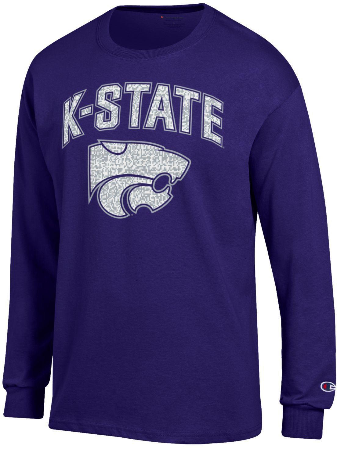 Champion Men s Kansas State University School Arch Long Sleeve T-shirt  c5fe19aa0729