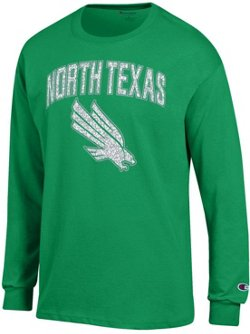 Champion Men's University of North Texas School Arch Long Sleeve T-shirt