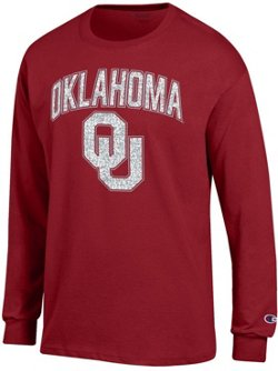 Champion Men's University of Oklahoma School Arch Long Sleeve T-shirt