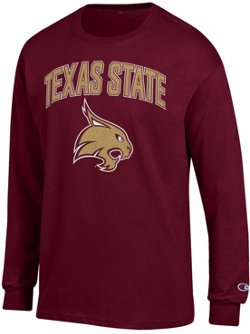 Champion Men's Texas State University School Arch Long Sleeve T-shirt