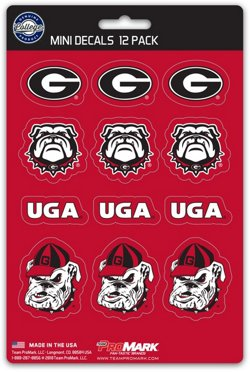 Team ProMark University of Georgia Mini Decals 12-Pack