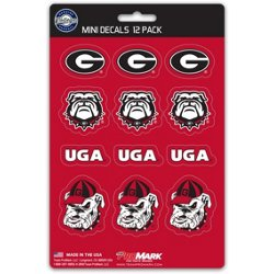 University of Georgia Mini Decals 12-Pack