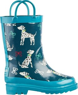 Austin Trading Co. Toddler Girls' Dog Print Rubber Boots