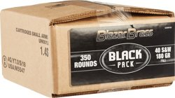 Blazer Brass Black Pack .40 S&W 180-Grain Centerfire Pistol Ammunition