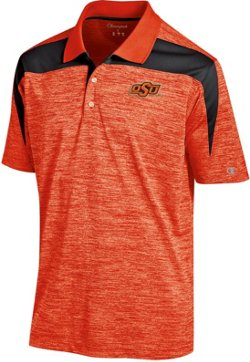 Champion Men's Oklahoma State University Colorblock Polo Shirt