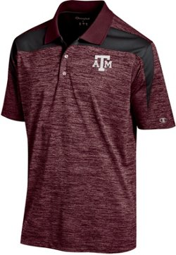 Champion Men's Texas A&M University Colorblock Polo Shirt