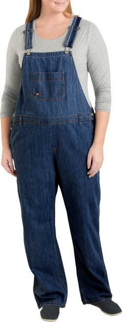 Women's Plus Size Straight Leg Bib Overalls