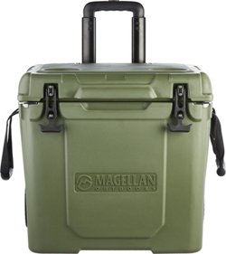Magellan Outdoors Ice Box 40 qt Rolling Cooler