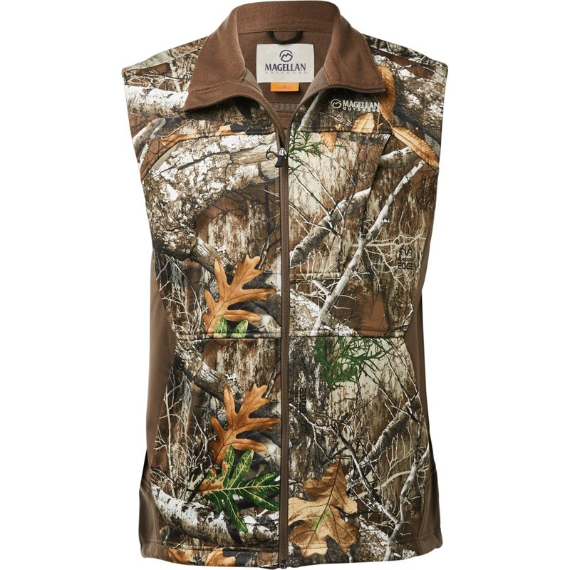 Magellan Outdoors Men's Mesa Softshell Vest - Camo Clothing, Adult Insulated Camo at Academy Sports