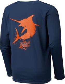 Columbia Sportswear Boys' PFG Silhouette Series Long Sleeve T-shirt