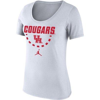 12401f7cc84b0e Jordan Women s University of Houston Classics Core Cotton Scoop T ...