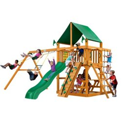 Chateau Cedar Swing Set with Deluxe Vinyl Canopy